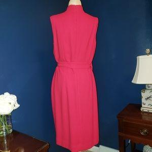 Jones New York Dresses - Pink faux wrap dress with back zipper